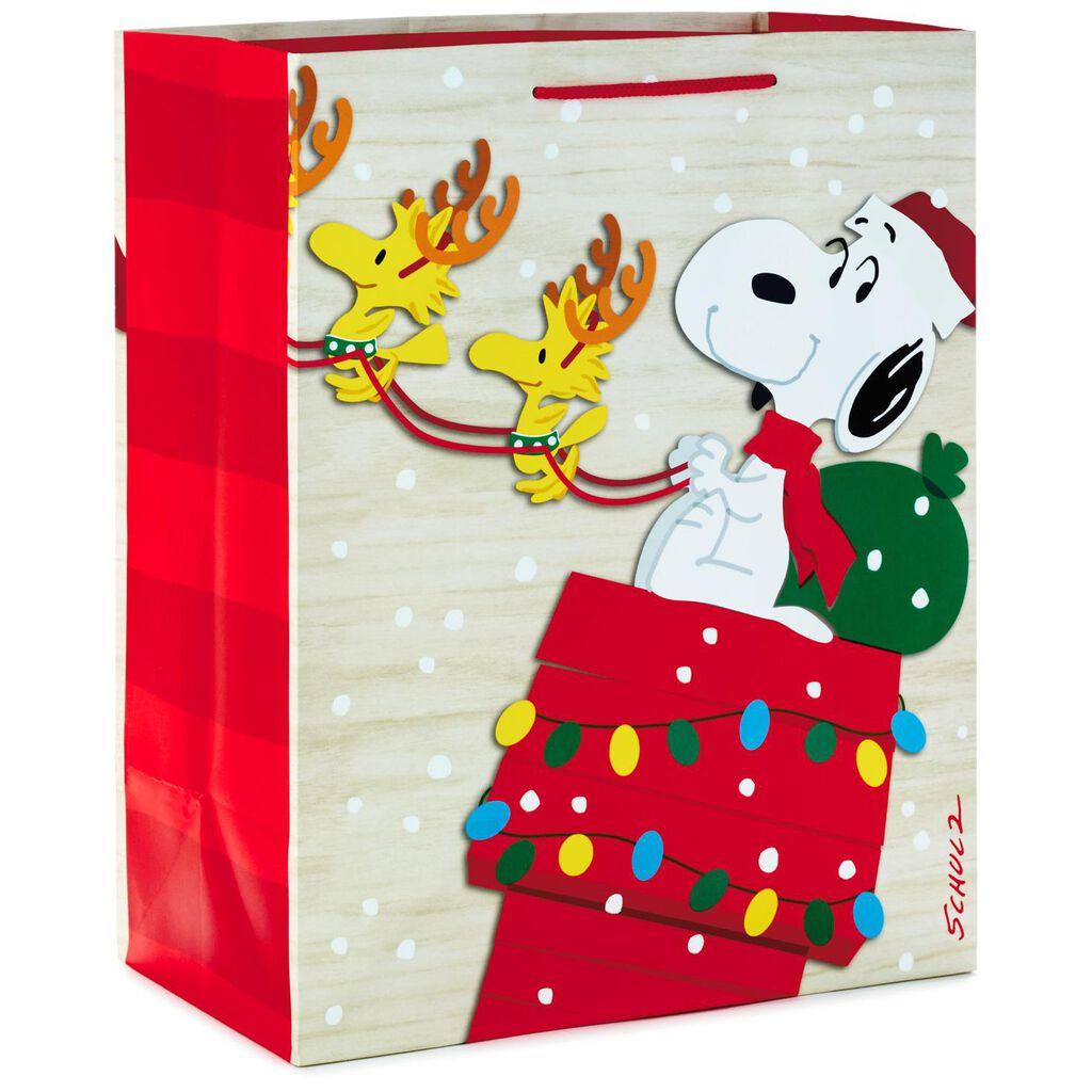 Peanuts® Snoopy Santa on Sleigh Large Christmas Gift Bag, 13\