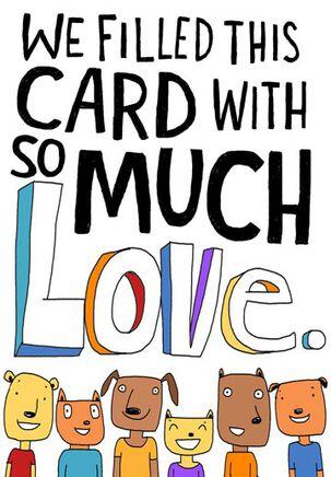 All Love, No Money Funny Birthday Card