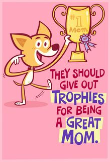 Trophy #1 Mom Musical Mother's Day Card,