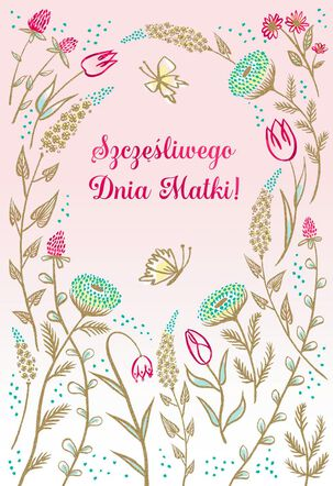 Polish-Language Mother's Day Card