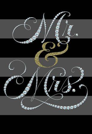 Sparkly Mr. & Mrs. Wedding Card