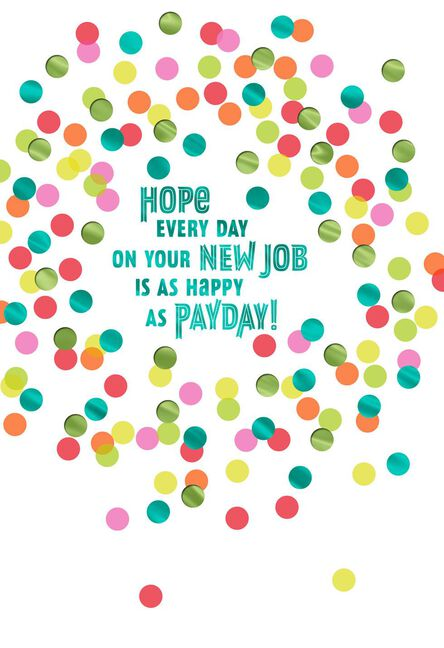Happy Thoughts New Job Congratulations Card Greeting Cards Hallmark