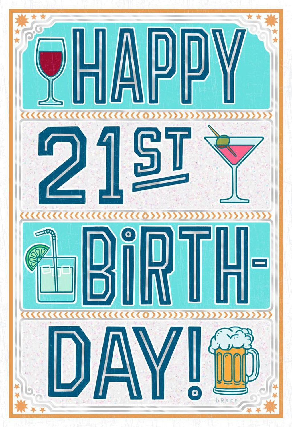 Cheers To 21 Funny Birthday Card