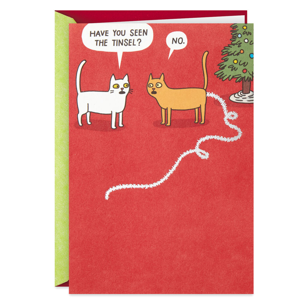 Funny Christmas.Found The Tinsel Funny Christmas Card