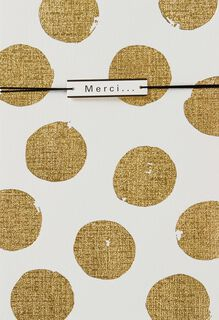 Gold Polka Dots French-Language Thank You Card,