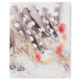 Feather Painting 8x10 Wrapped Canvas Art by Marjolein Bastin, , large