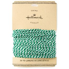 Green and White Baker's Twine, 4.3 yds., , large