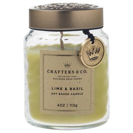 Crafters & Co. Lime & Basil Candle, 4-oz, , large