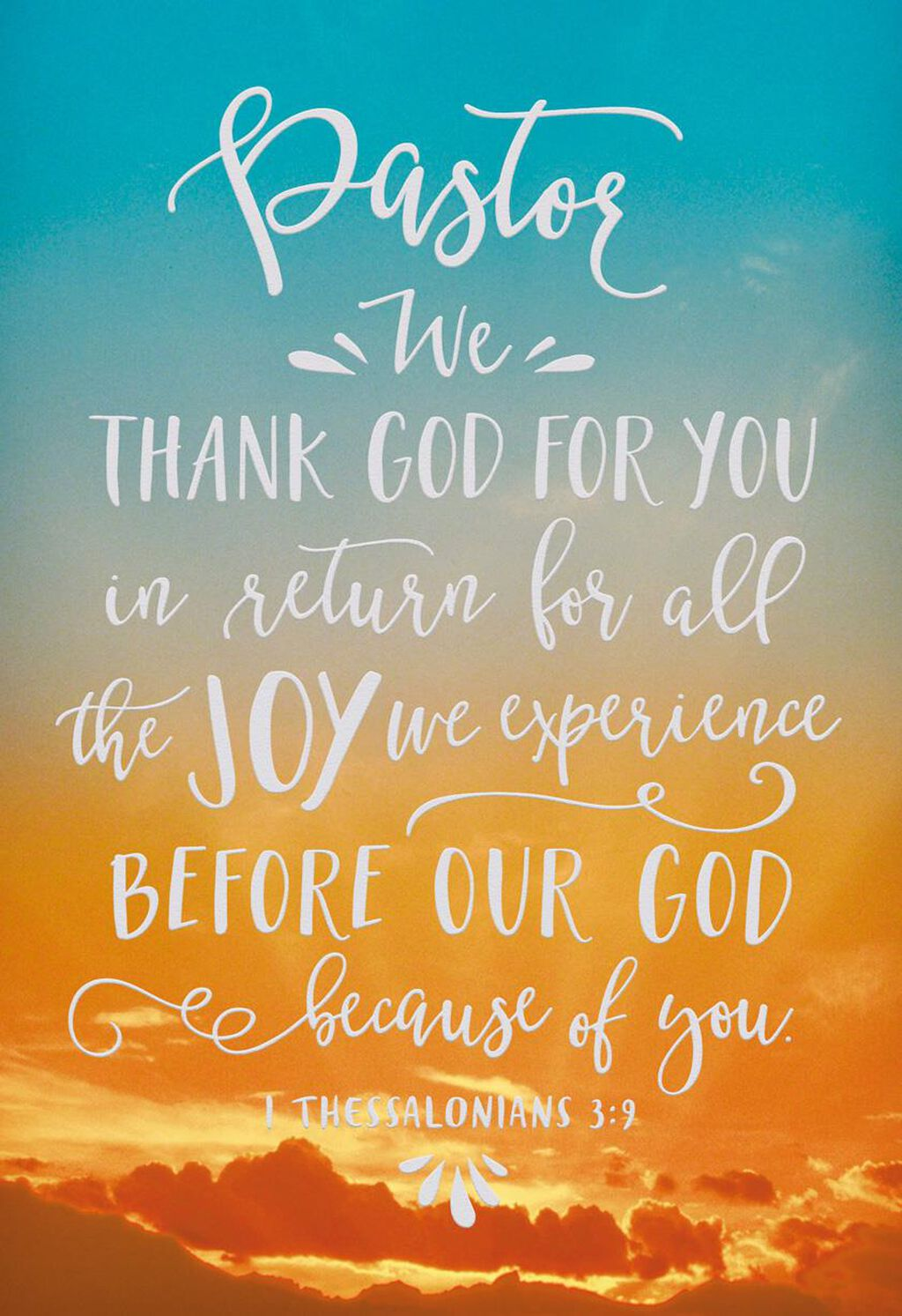 Morning Sunrise Pastor Appreciation Card Greeting Cards Hallmark