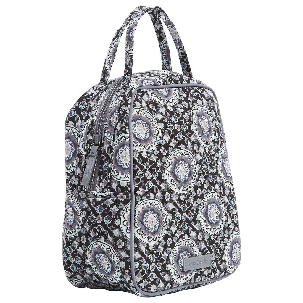 Vera Bradley Iconic Lunch Bunch Bag In Charcoal Medallion