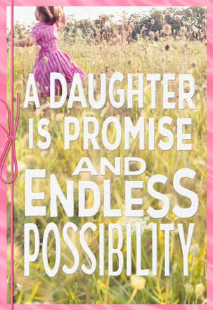 Girl in Meadow Birthday Card for Daughter