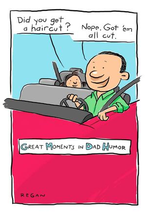 Haircut Humor Funny Father's Day Card