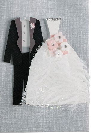Tux and Dress Wedding Card
