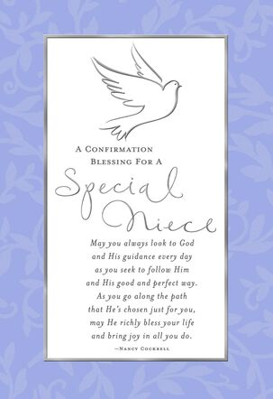 Special Thoughts for Niece Confirmation Card
