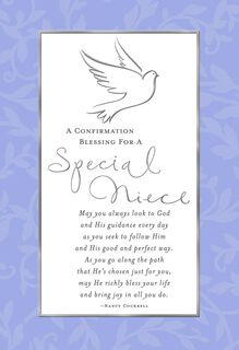 Special Thoughts for Niece Confirmation Card,