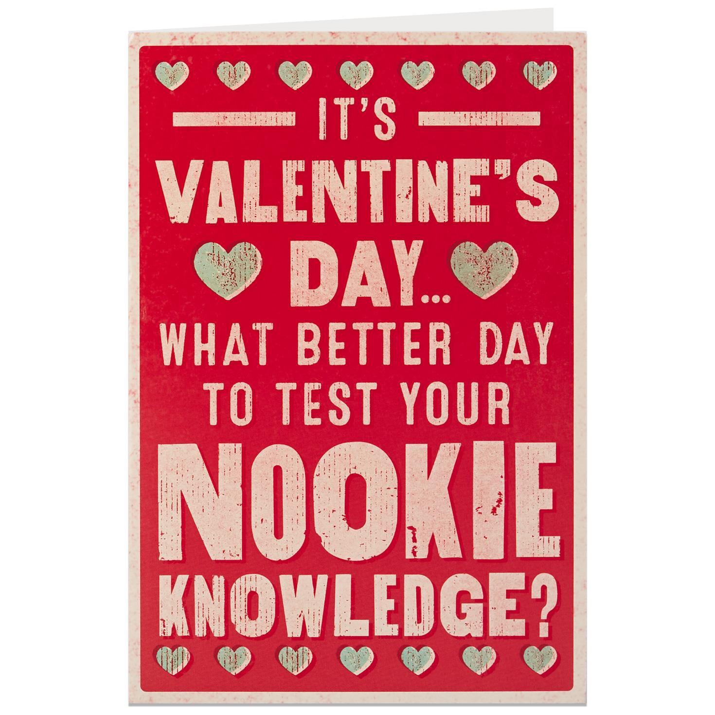 Nookie Quiz Valentines Day Card For Adult   Valentines Day Quiz