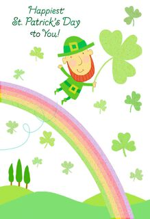 Leaping Leprechaun St. Patrick's Day Card,
