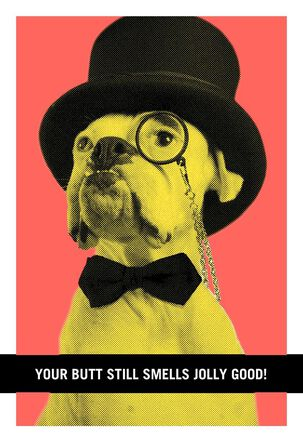 Top Hat Dog Funny Birthday Card