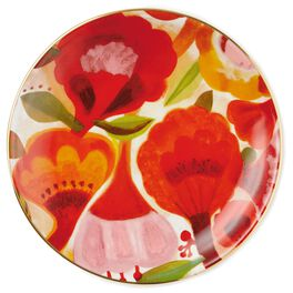 Red Flowers Ceramic Dessert Plate, , large