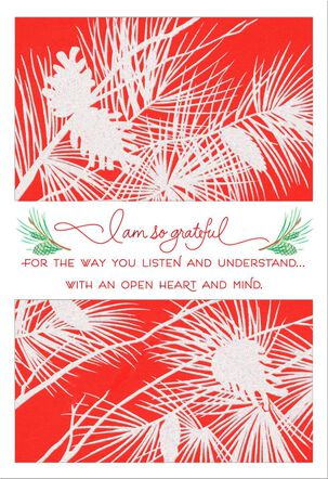 So Grateful for You Christmas Card for Mom