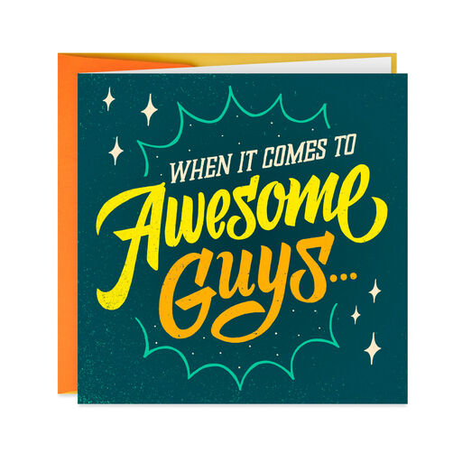 One Awesome Guy Musical Birthday Card