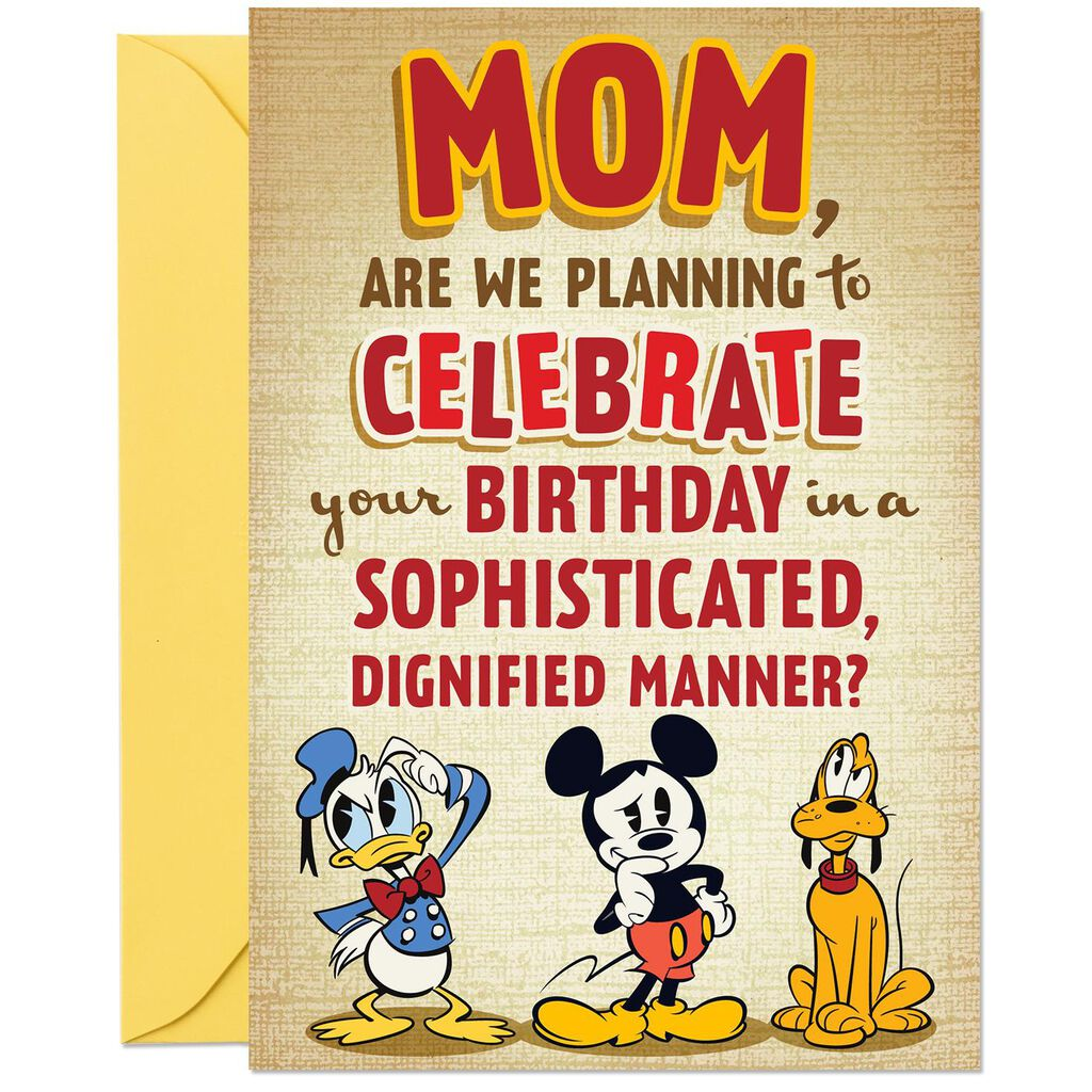Disney Mickey Mouse And Friends Funny Pop Up Birthday Card For Mom From Us