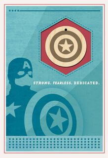 MARVEL Captain America Greatness Birthday Card With Keychain,