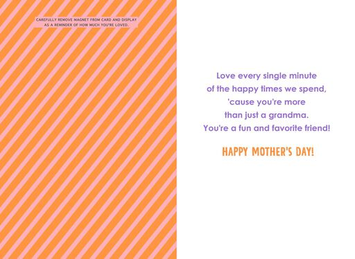 Amazing Grandma Mother's Day Card With Magnet,