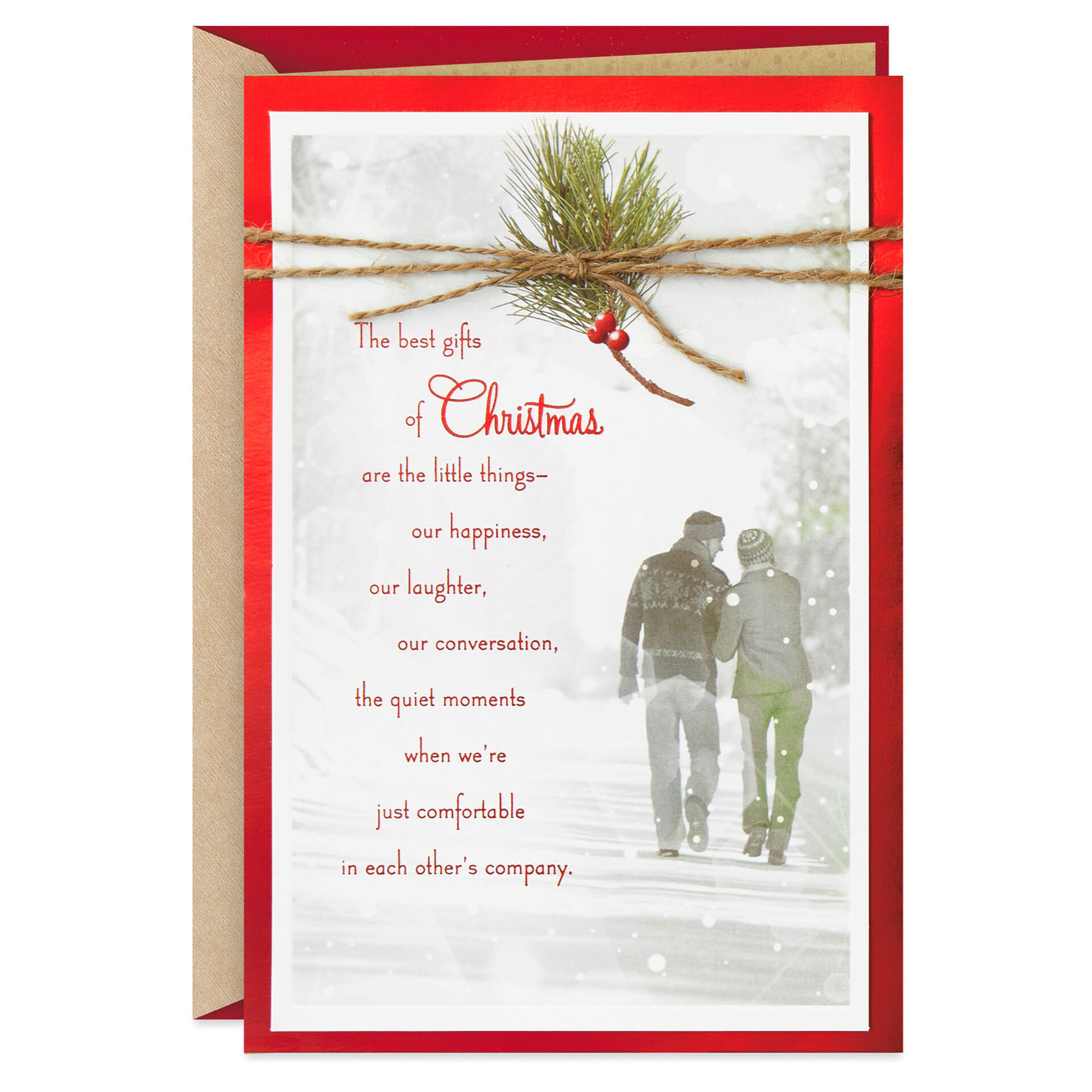 You Re The Best Gift Christmas Love Card Greeting Cards Hallmark