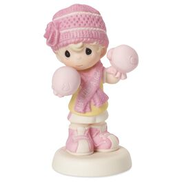 Precious Moments® Fight Like A Girl Breast Cancer Awareness Figurine, , large