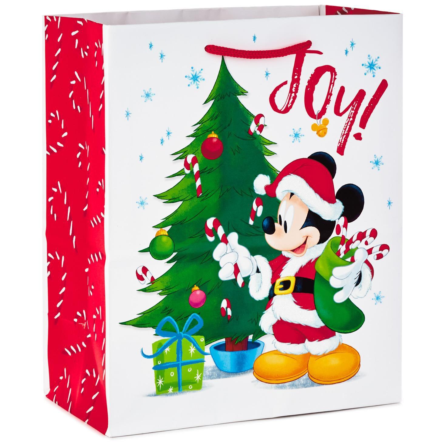 disney mickey mouse santa medium christmas gift bag 95 gift bags hallmark