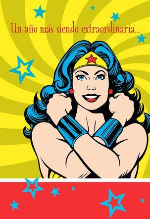 "Wonder Woman™ Large Spanish-Language Birthday Card, 12"""