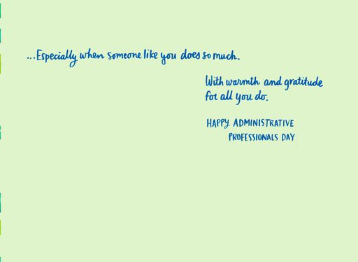 You Do So Much Admin Professionals Day Card,