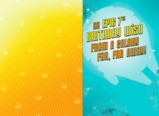 Star WarsTM Epic Wish 7th Birthday Card With Sound
