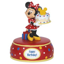 Precious Moments® Minnie Mouse With Cake Musical Figurine, , large