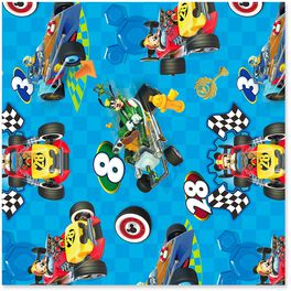 Disney Mickey Mouse Racing Wrapping Paper Roll, 25 sq. ft., , large