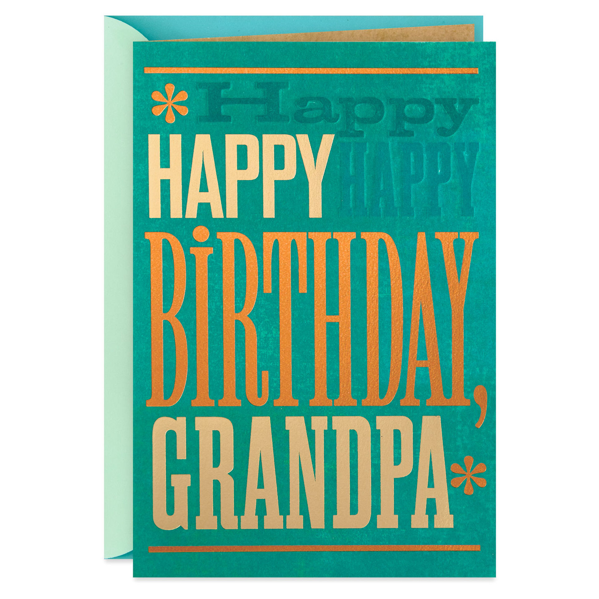 Happy Happy Happy Birthday Card For Grandpa Greeting Cards Hallmark