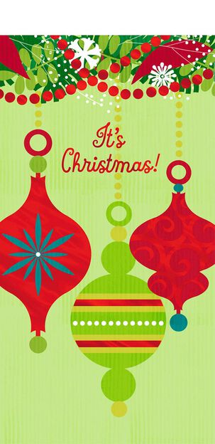 Joy and Love Christmas Card Money Holder