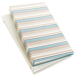 Striped and Cream Photo Album Set of 2, , large