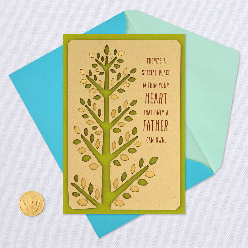 Stalwart Tree Birthday Card To Dad From Daughter