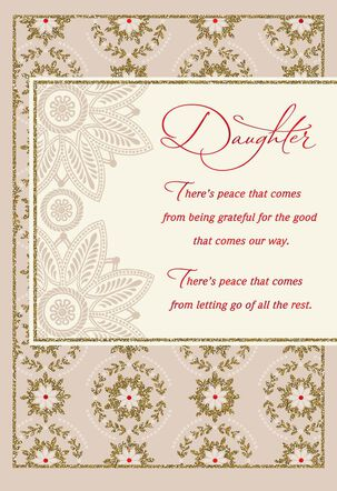 Wishes for Peace, Daughter Christmas Card