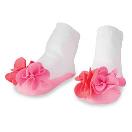 Mud Pie® Flower Puff Baby Socks, , large