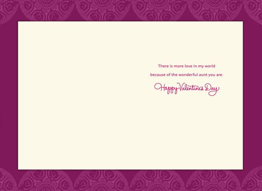Wonderful You Valentine's Day Card for Aunt,