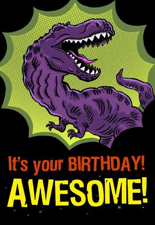 T-Rex Awesome Birthday Card