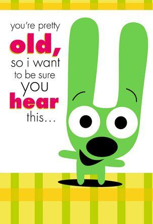 Hoops Amp Yoyo Quiet Nap Funny Birthday Sound Card Greeting
