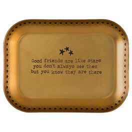 Natural Life Copper Trinket Dish Good Friends Are Like Stars, , large
