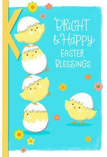 Baby Chicks Religious Easter Card,