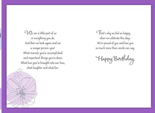 Happy To Celebrate This Day Birthday Card For Daughter From Both Of Us