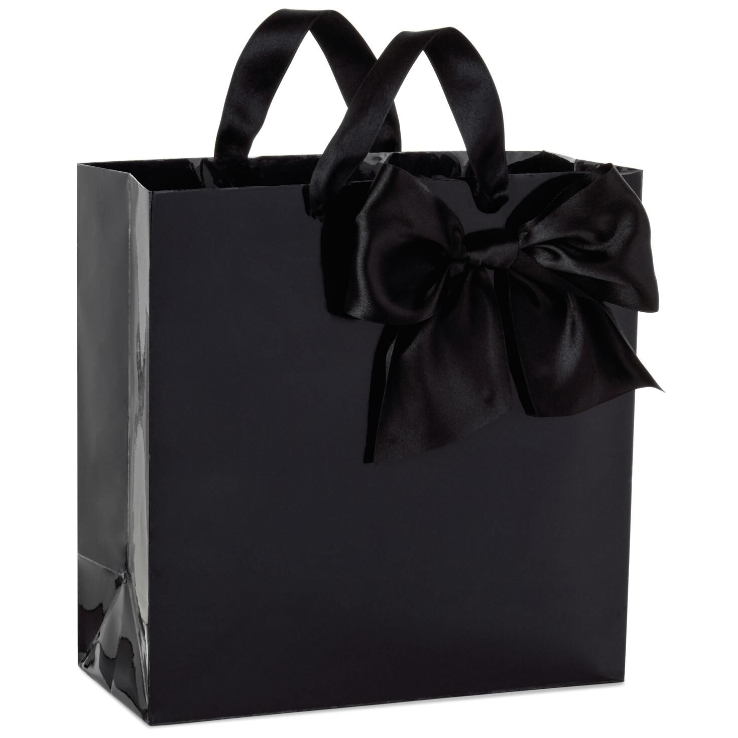 Classic black bow large square gift bag 1025 gift bags hallmark negle Choice Image