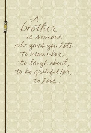 Your Brother Now and Always Sympathy Card